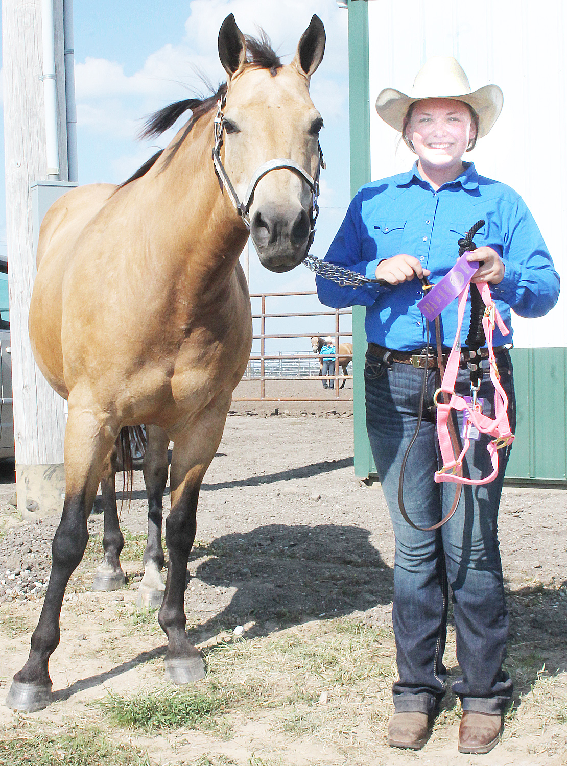 Jerilyn Nelson of the Pleasant Valley Rustlers showed the reserve grand champion mare and was named champion senior showman at the horse show.