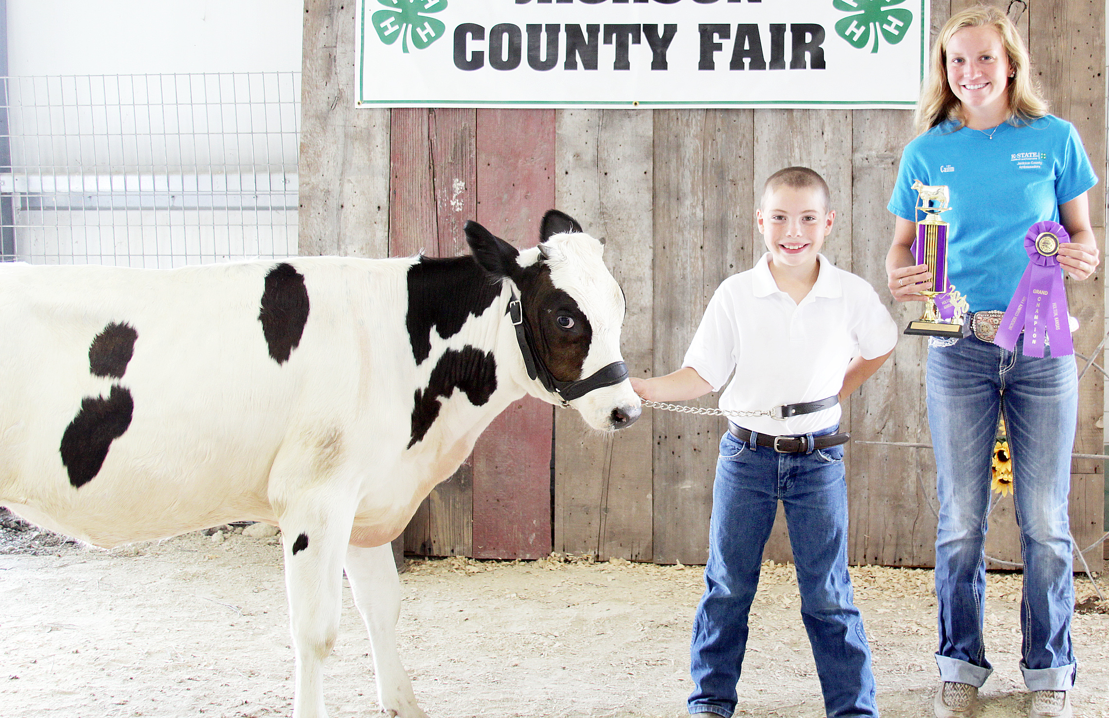 Henry Thompson of the Denison Builders 4-H Club was named champion beginner dairy cow showman at the 2020 Jackson County Fair.
