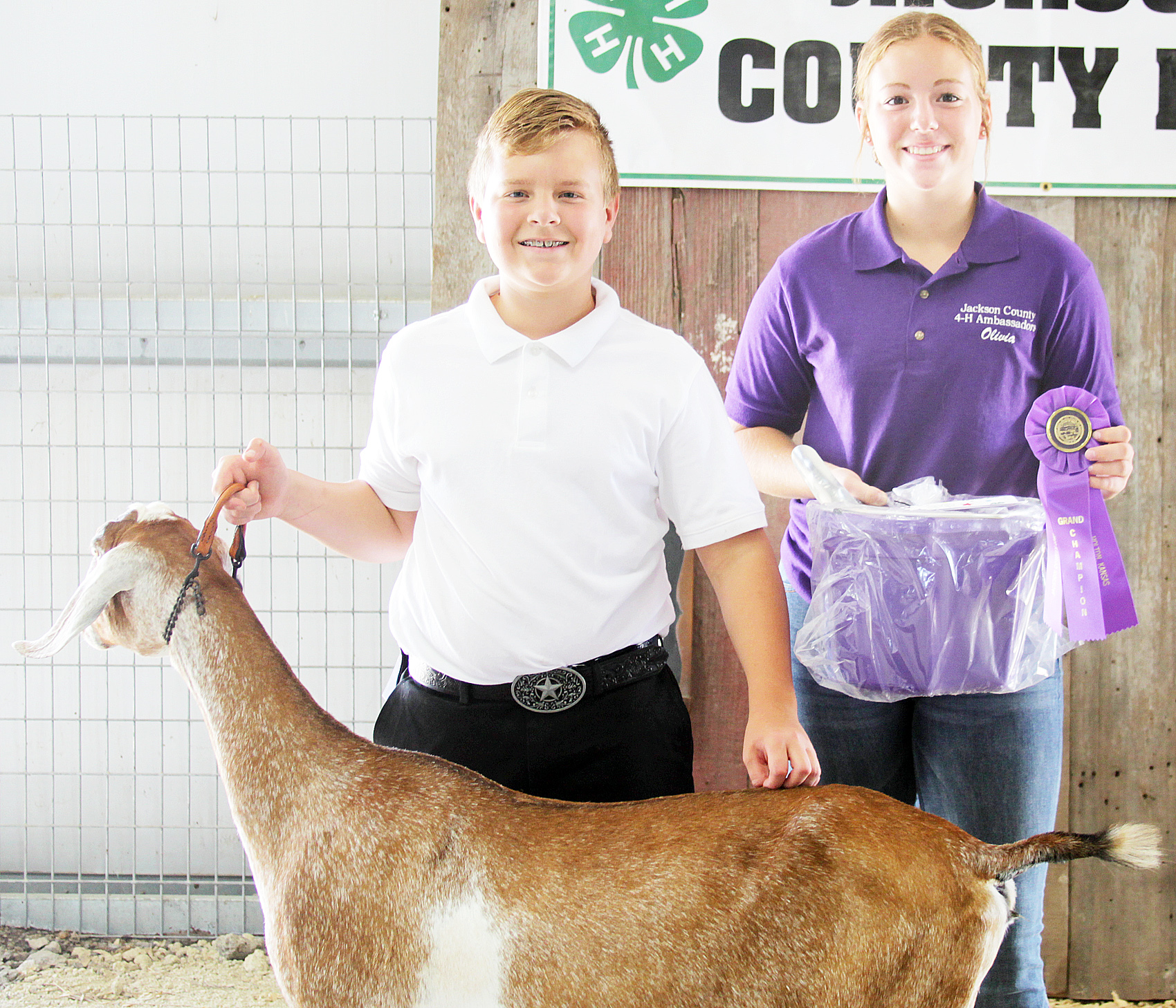 Tristan Simpson-Worley of the Ontario Busy Bees 4-H Club was named champion intermediate dairy goat showman at the 2020 Jackson County Fair.
