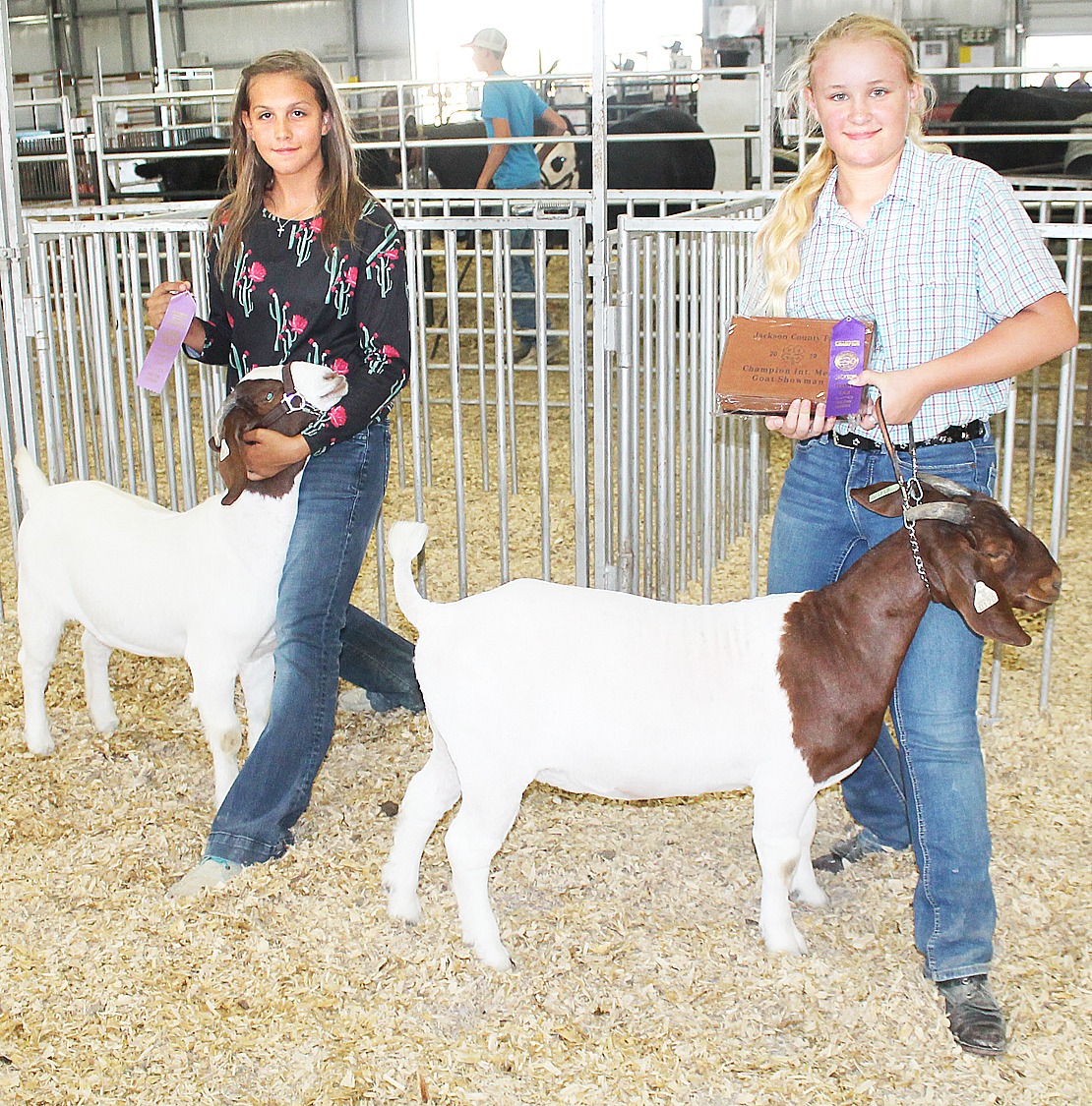 Savannah Cattrell, Isabelle Stephens - Intermediate Goat Showmanship