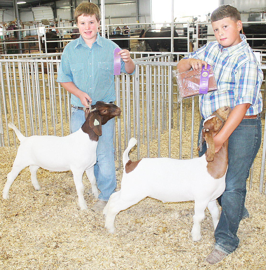 Cash Robinson, Ean Winsor - Junior Goat Showmanship