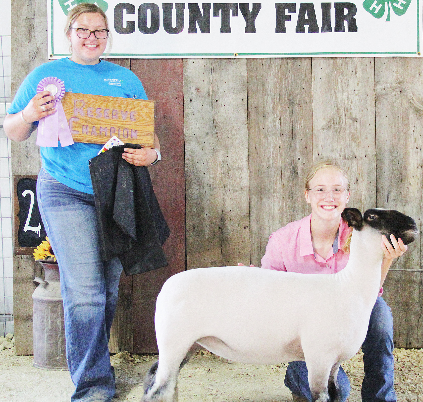 Lora Larison of the Pleasant Valley Rustlers 4-H Club showed the Reserve Grand Champion overall ewe at the 2020 Jackson County Fair.