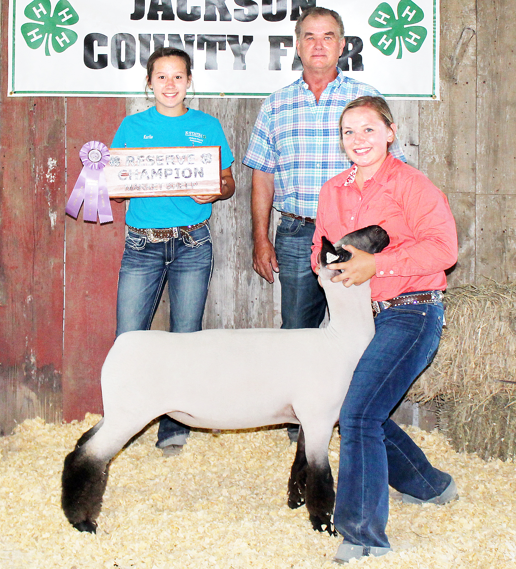Jerilyn Nelson - Reserve Champion Market Lamb (Overall and Heavyweight Reserve Crossbred)