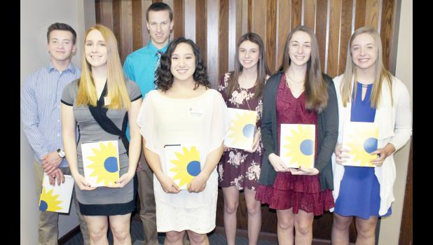 2017 Kansas Honors Program scholars from Royal Valley High School are, from left to right, Noah McAlister, Aubrey Willis, Lucas Broxterman, Samantha Rupnick, Ali Bryan, Karlie Miller and Sarah Beam. (Photo by Brian Sanders)