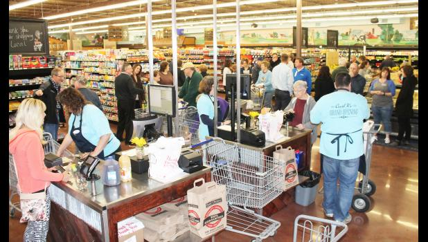 Cecil K's Hometown Market opened on Wednesday in the former Ron's IGA building and was an immediate hit with local grocery shoppers. (Photo by Brian Sanders)