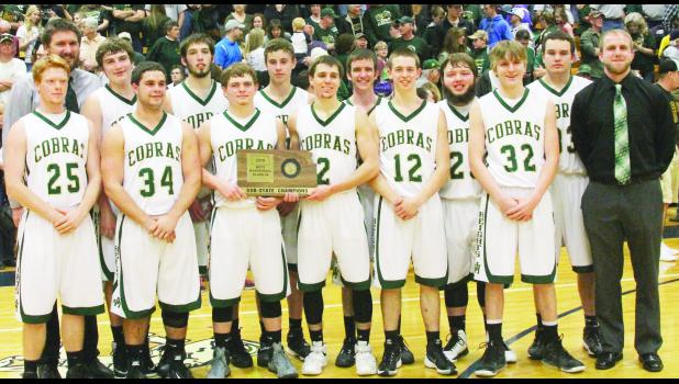 The Jackson Heights High School Cobra boys varsity basketball team won the Class 2A sub-state championship in Horton on Saturday by defeating Jefferson County North High School 68-46.