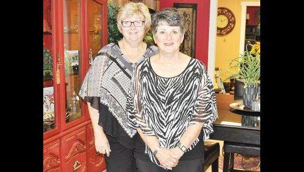 Beth Amon (left) and Shirley Pool are opening Everything Home, a new home décor and furniture store this week on the south side of Holton's Town Square. (Photo by Ali Holcomb)