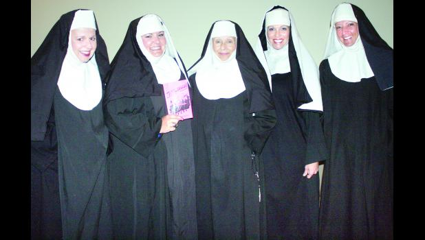 "From left to right, Carrie Holliday, Mallory Jacobs, Carol Totten, Erin Fox and Shannon Wittmer make up the cast of ""Nunsense,"" to be presented by Holton Community Theatre on Saturday and Sunday, Oct. 10 and 11 at Penny's on Holton's Town Square. Wittmer also directed the musical comedy."