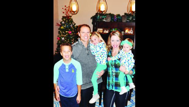 "The Black family of Holton, which includes (from left) Kobe, 10; Brady, Khloe, 4; Brooke and Kenzington, 15 months, are opening up their home on Saturday during the ""I'll Be Home For Christmas"" homes tour. The tour features five homes and is sponsored by the Holton/Jackson County Chamber of Commerce as a fund-raiser for the organization."