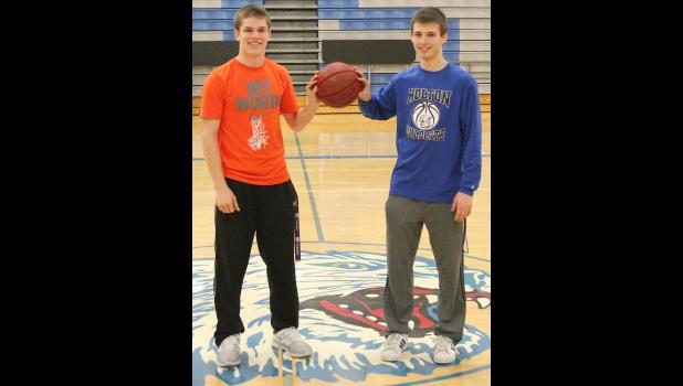 Time playing together, both in school and the summer months,  is serving Holton's Garett Beecher (shown above, right) and Trey Tanking (left) well in their senior season.