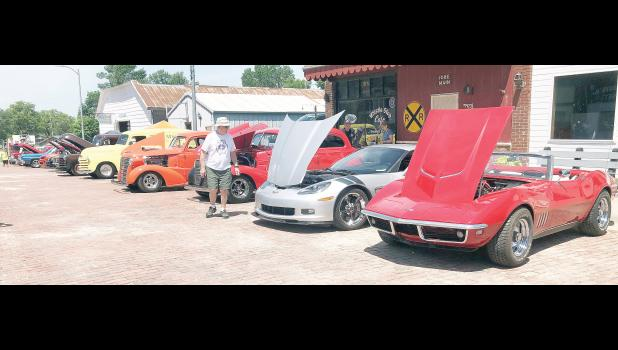 "A total of 71 vehicles were entered into the Motors & Mayhem car and bike show in downtown Mayetta this past Saturday as a fund-raising event for the Mayetta Spray Park. ""It was our most successful car show we've had,"" said Liz Long, spray park fund-raising committee chairperson, of the third annual event. (Photo courtesy Jonathan Wimer)"