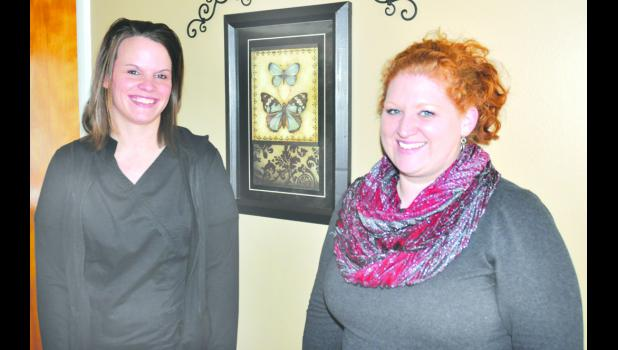Holton natives Mandy Bontrager (left) and Nikki Rinkes (right) are the new owners and operators of The Pines in Holton.