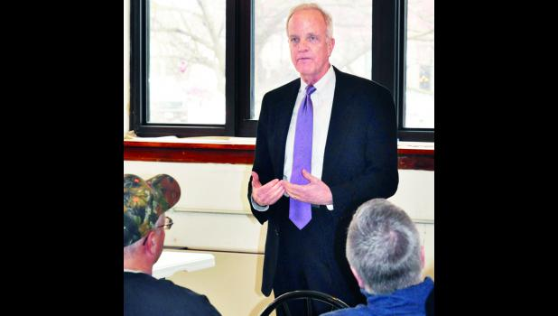 U.S. Senator Jerry Moran (R-KS) touched on a variety of topics, including health care for veterans and education funding, during a special town hall meeting Monday morning at the Jackson County Courthouse in Holton.