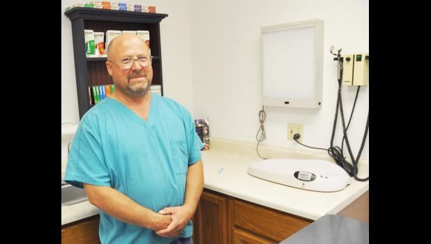 This spring, Dr. Ed Kester opened Kester Animal Clinic in Hoyt along Kansas Highway 214 in the former Hoyt Animal Practice building. Kester is a Hoyt native, and he specializes in small and large animals. (Photo by Ali Holcomb)