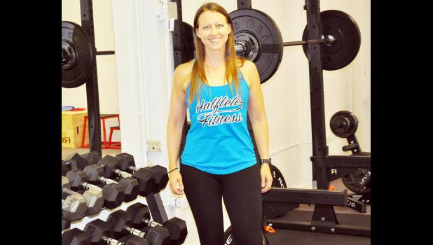 Lindsey Heineken is the owner of Halflete Fitness, which opened in April in the former Fresh Start building at 610 E. Fifth St. in Holton. (Photo by Ali Holcomb)