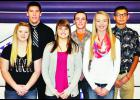 Royal Valley High School will hold its winter courtwarming ceremony this Friday night when the Panthers take on Hiawatha in Hoyt. Candidates include (front row, from left) Kaylie Parker, Hannah Johnson, Hannah Beam, (back row, from left) Tristan Tessendorf, Dustin Gunter and Eugene Masquat. The crowning will be held at halftime of the boys varsity game.