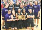 The Royal Valley Lady Panthers are headed to the Class 3A state tournament in Hutchinson after a thrilling double-overtime victory over Mission Valley Saturday at Silver Lake. (Photo by David Powls)