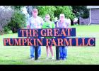 Bob and Kelly Gay, who are shown above at left and right, are opening The Great Pumpkin Farm on Sept. 18 off of 190th Road north of Mayetta. The couple are shown above with their granddaughter, Juliet Brackenbury, who helps out on the farm.