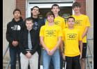 Cross country runners selected to the All-County boys team are pictured above and include (front row, left to right) Garrett Hicks (RVHS), Westin Jacobsen (JHHS), Andrew Pino (JHHS), (back row, left to right) Darius Frisby (RVHS), Kwaki Spoonhunter (RVHS), Xavier Fritz (JHHS) and Dalton Chartier (JHHS).
