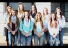 Members of the All-County volleyball team are pictured above and include (front row, from left to right) Megan Rhule (HHS), Courtney Boswell (HHS), Ashlyn Weilert (HHS), Ali Bryan (RVHS), (back row, left to right) Katelin Strube (JHHS), Hannah Williams (JHHS), Hayley Thompson (HHS), Macy Putnam (RVHS) and Kate Hanson (RVHS).