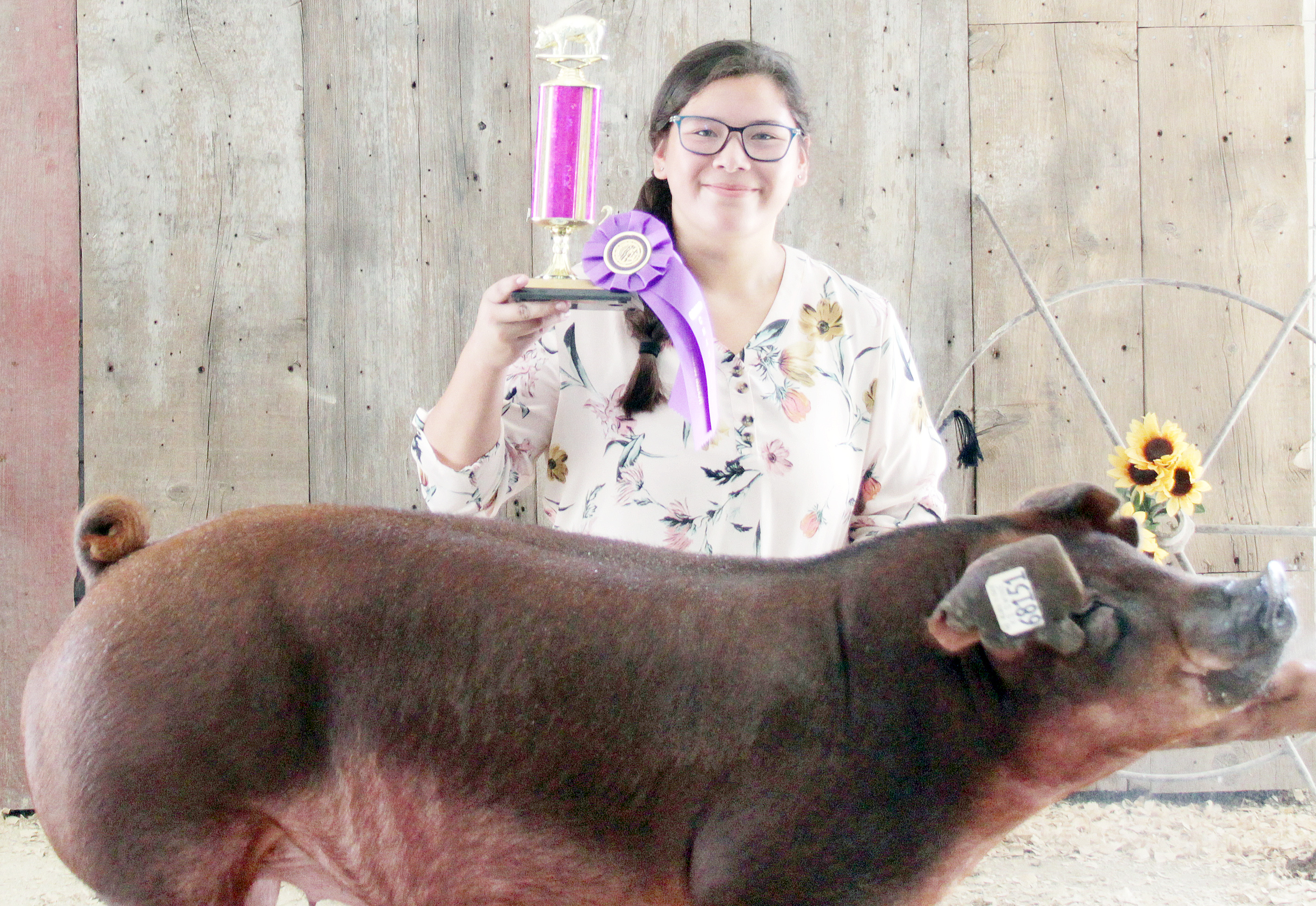 Kailei Mitchell of the Mayetta Mustangs 4-H Club was named Champion senior hog showman at the 2020 Jackson County Fair.
