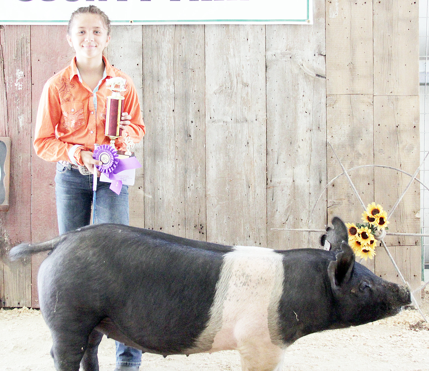 Madilyn Bacon of the North Jackson Jets 4-H Club was named Champion junior hog showman at the 2020 Jackson County Fair.