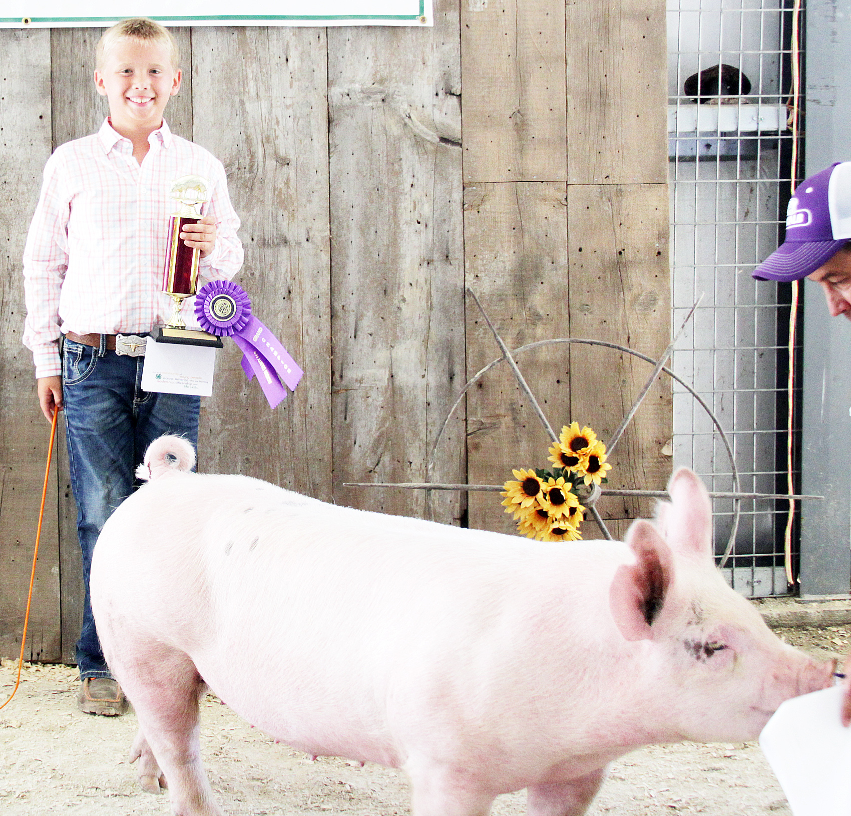 Grady Moss of the Hoyt Livewires 4-H Club was named Champion beginner hog showman at the 2020 Jackson County Fair.