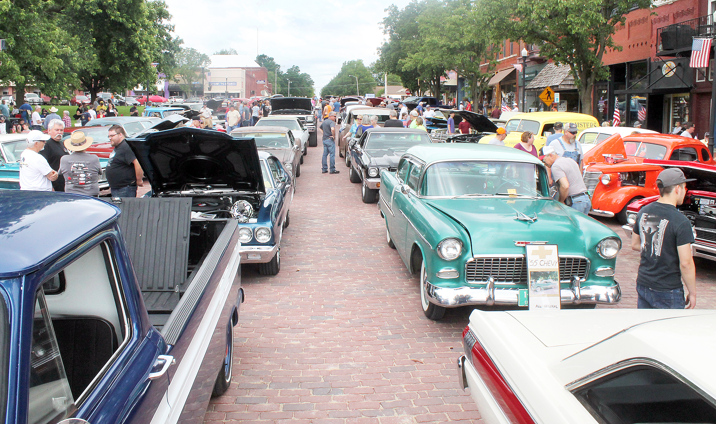 A total of 90 classic vehicles were displayed during the Glory Days car show — down from last year's show of more than 150, car show organizers noted, but still a good turnout given the weather situation.