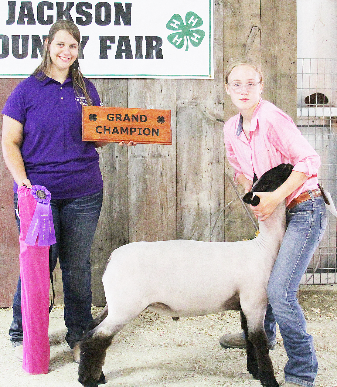 Lora Larison of the Pleasant Valley Rustlers 4-H Club showed the Grand Champion overall market lamb at the 2020 Jackson County Fair.