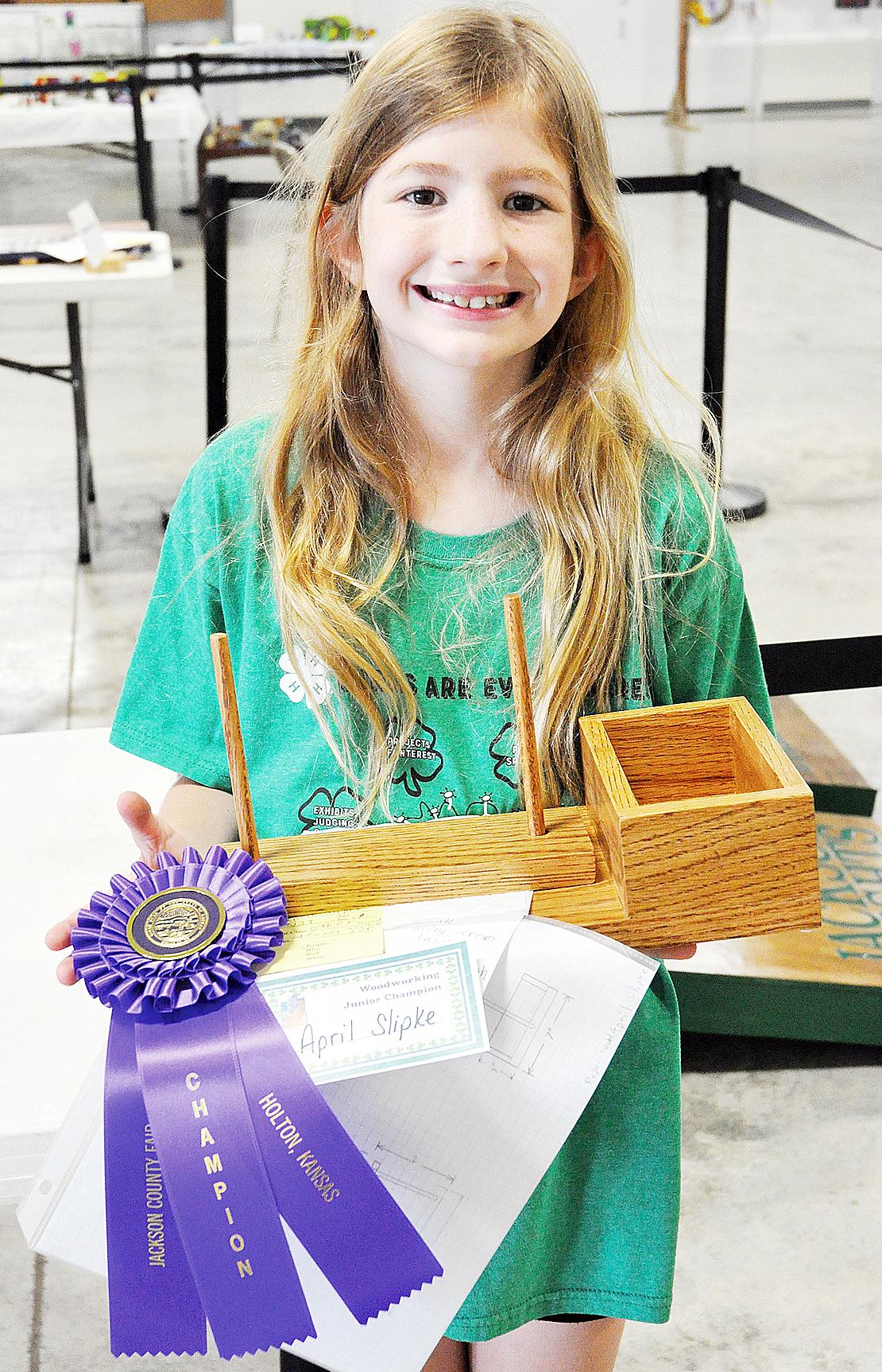 April Slipke - Junior Woodworking