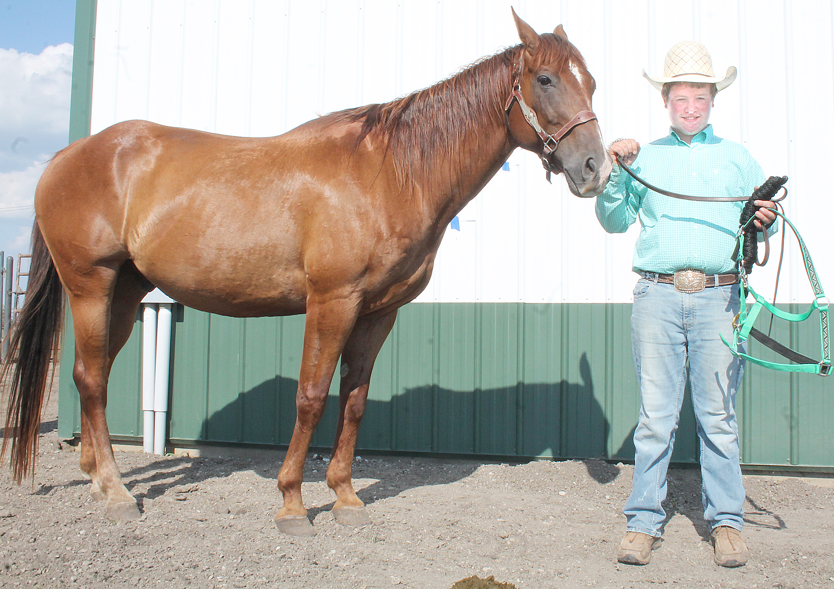 Cash Robinson of the Lucky Stars won the intermediate showmanship category at this year's horse show.