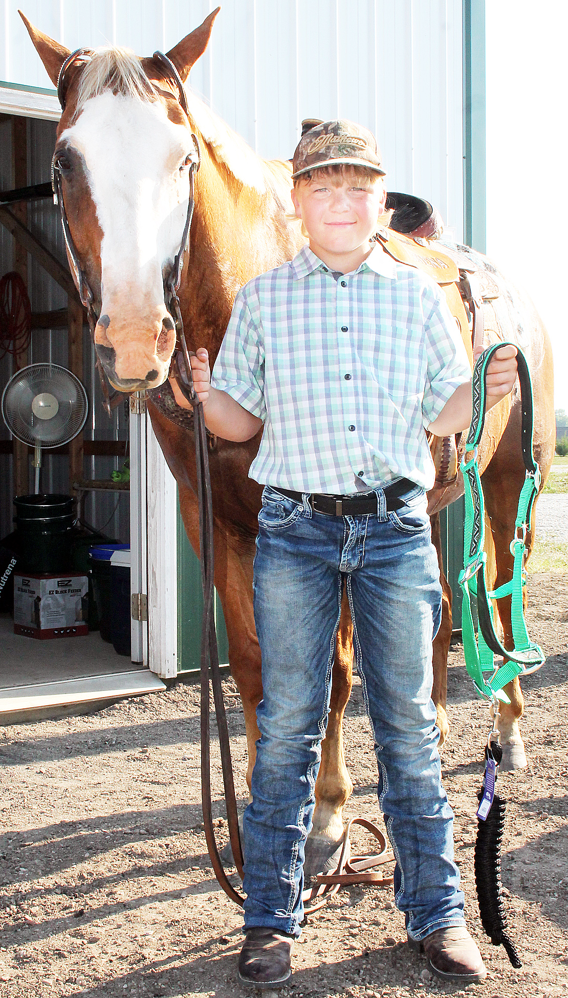 Jarett Abel of the Soldier Boosters won the western pleasure, horsemanship, trail and reining competitions at the show for competitors aged 10-13.