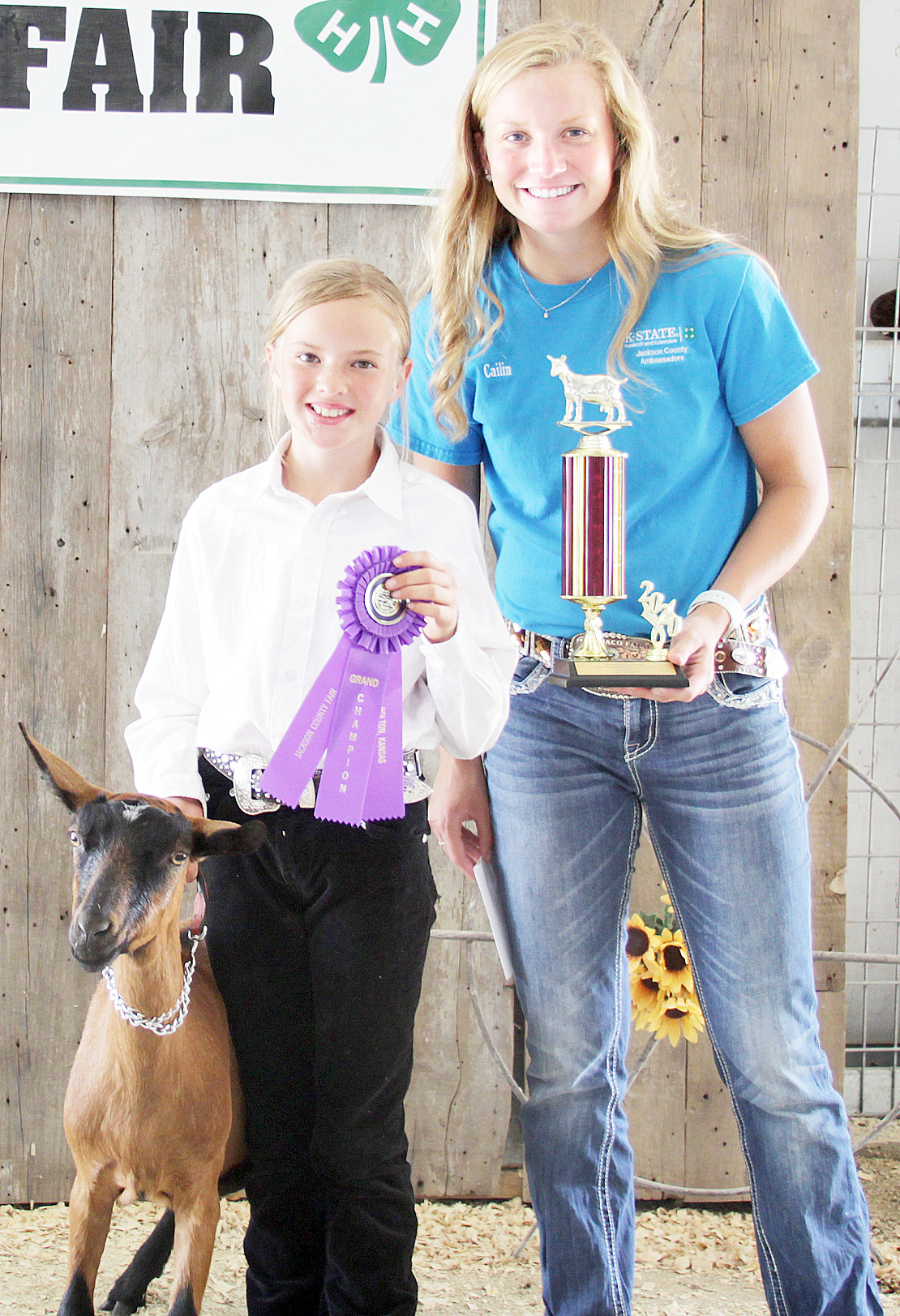 Miriam Halbleib of the Denison Builders 4-H Club was named champion beginner dairy goat showman at the 2020 Jackson County Fair.