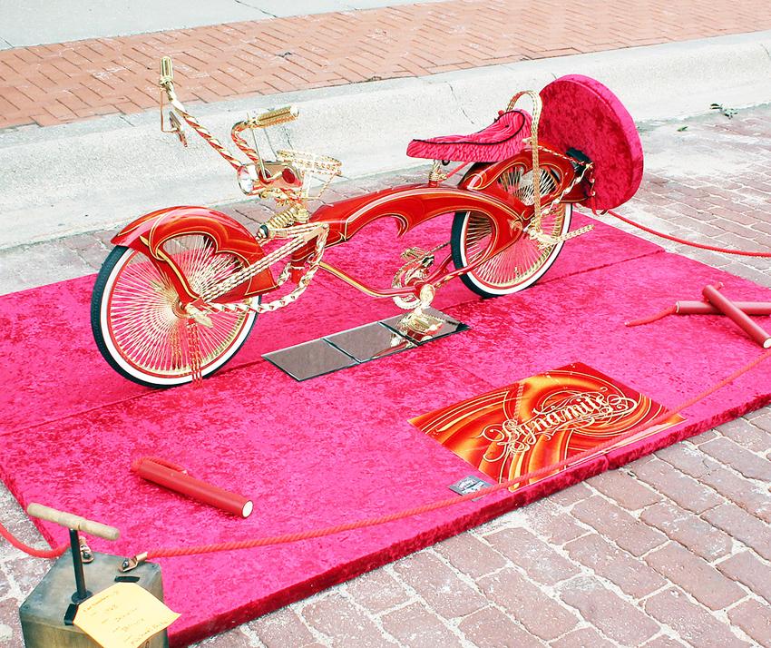 """Dynamite"" lowrider bike, shown by Michael Fritz"