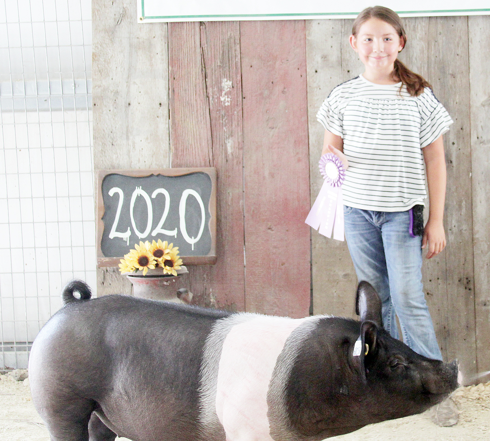 Harper Mitchell of the Mayetta Mustangs 4-H Club was named Reserve Champion beginner hog showman at the 2020 Jackson County Fair.
